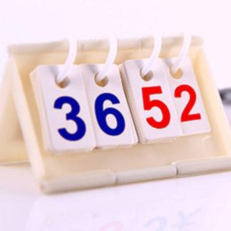 中号塑料支座记分牌英文1